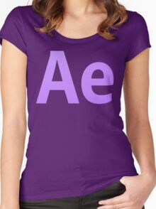 After Effects CS6 Letters Women's Fitted Scoop T-Shirt
