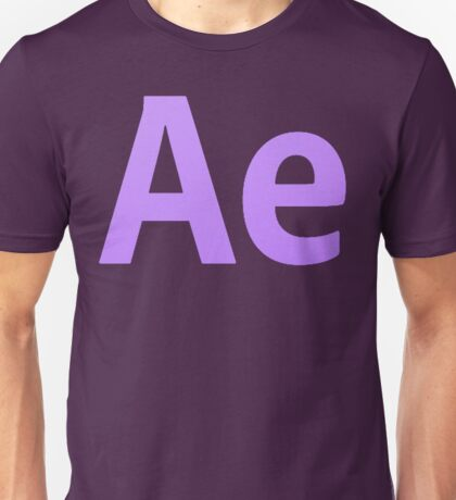 After Effects CS6 Letters Unisex T-Shirt