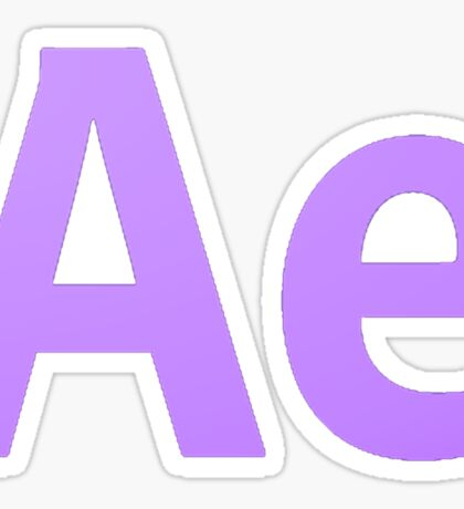 After Effects CS6 Letters Sticker