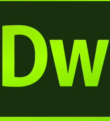 DreamWeaver CS6 Logo Sticker