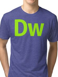 DreamWeaver CS6 Letters Tri-blend T-Shirt