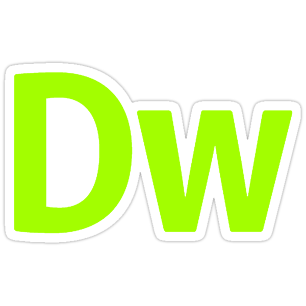 DreamWeaver CS6 Letters by Kingofgraphics