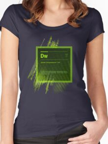 DreamWeaver CS6 Splash Screen Women's Fitted Scoop T-Shirt