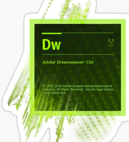 DreamWeaver CS6 Splash Screen Sticker