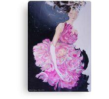 Femme de fleur Canvas Print