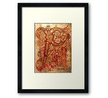 Page from the Book of Kells Framed Print