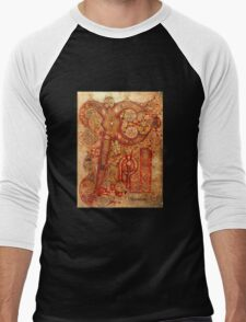 Page from the Book of Kells Men's Baseball ¾ T-Shirt