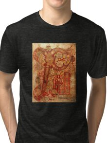 Page from the Book of Kells Tri-blend T-Shirt