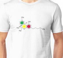 THC Molecules (cannabis marijuana) Unisex T-Shirt