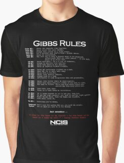NCIS - GIBBS RULES  Graphic T-Shirt