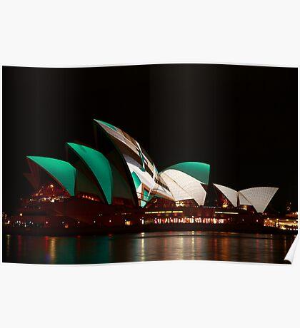 Sydney Opera House in the Vivid Festival Poster
