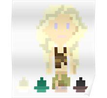 Daenerys (& Dragon Eggs) Pixel Art (Game of Thrones) Poster