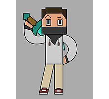 Minecraft character 01 Photographic Print