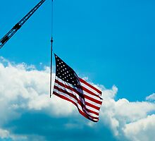 Flag pole on a Crane by NewLayer