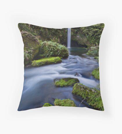 Omanawa falls drift Throw Pillow