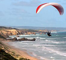Paragliding 001 by Karl David Hill