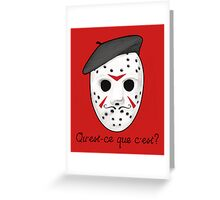 Psycho Killer Greeting Card