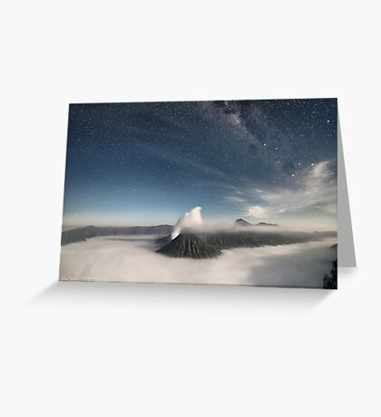 Gunung Batok by Moonlight Greeting Card