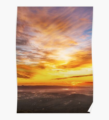 Picnic Point Toowoomba Sunrise Poster