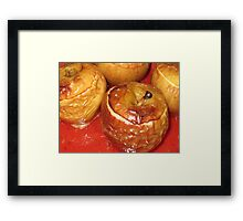 Halloween Baked Apples Framed Print