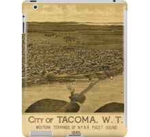 Panoramic Maps City of Tacoma WT western terminus of NPRR Puget Sound 1885 iPad Case/Skin