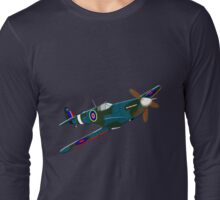 iconic Supermarine Spitfire Long Sleeve T-Shirt
