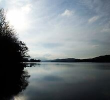 Cloudy Coniston Water by Chris Pilcher