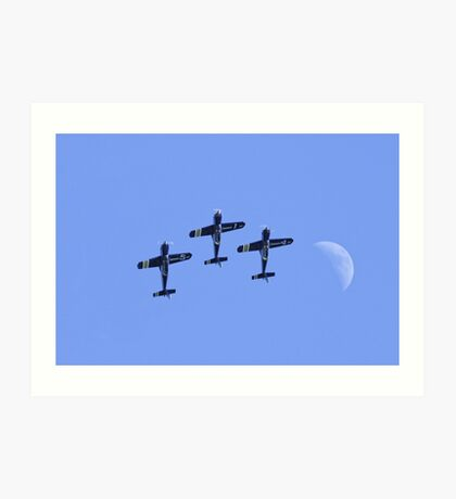 French Airforce Cartouche Dore Display Team Art Print