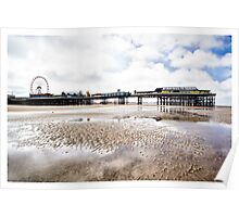 Central Pier Blackpool Poster