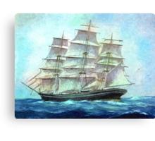 sailing to America Canvas Print