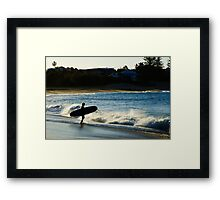 Gettin' In Framed Print