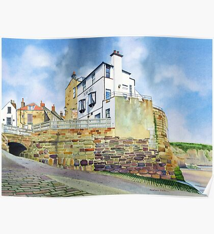 The Bay Hotel, Robin Hoods Bay, North Yorkshire Coast Poster