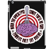 zombie only eat brains iPad Case/Skin