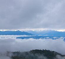 Trekking through the clouds by Deb Kloeden