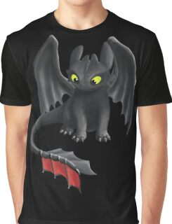 Toothless, Night Fury Inspired Dragon. Graphic T-Shirt