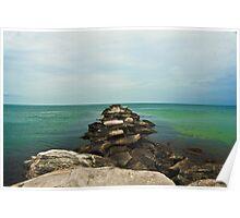 Rock wall at Edgartown, MA Poster