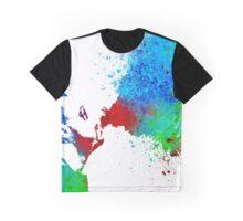 Watercolor Vaping Man Graphic T-Shirt