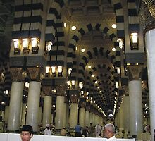 Inner side of the Nabvi Mosque by Bobby Dar