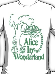 Alice in wonderland- Green T-Shirt