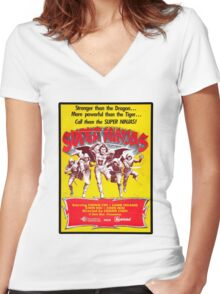 SUPER NINJAS! Women's Fitted V-Neck T-Shirt