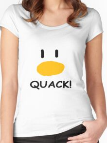 quack quack quack Women's Fitted Scoop T-Shirt