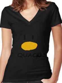 quack quack quack Women's Fitted V-Neck T-Shirt