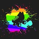 Roller Splatter (rainbow) by Benjamin Whealing