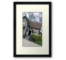 Lovely house in London Framed Print