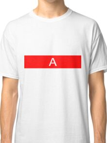 Alphabet Collection - Alpha Red Classic T-Shirt
