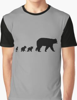 Mama Bear and her Cubs.  Graphic T-Shirt