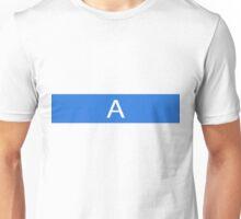 Alphabet Collection - Alpha Blue Unisex T-Shirt