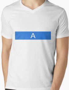 Alphabet Collection - Alpha Blue Mens V-Neck T-Shirt