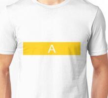 Alphabet Collection - Alpha Yellow Unisex T-Shirt