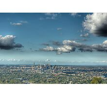Brisbane, Australia from Mt Coot-tha Photographic Print